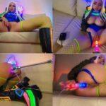Octokuro – Cyberpunk 2077 Cosplay Bitch LED Glowing Dildo – Anal Creampie HD 720p